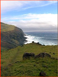 Photo of south coast of Easter Island