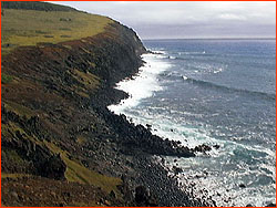 Photo of Easter Island bluff south of Hanga Roa on the road to Rano Kau