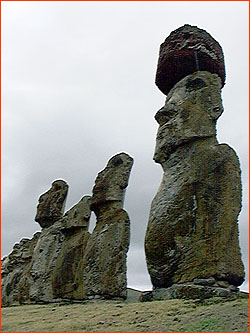 Photo of Moai at Ahu Tongariki