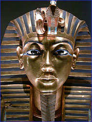 The funerary mask of King Tut.