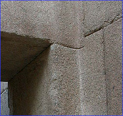 Curved lintel joint in Khafre's Valley Temple.
