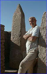 Roger Hopkins and his obelisk