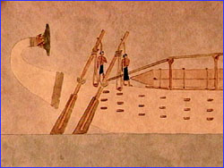 Depiction of obelisk on boat