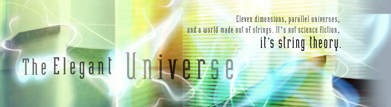 The Elegant Universe: Eleven dimensions, parallel universes, and a world made out of strings. It's not science fiction, it's string theory.