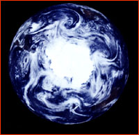 Storms at the south pole, as seen by the Galileo spacecraft