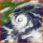 Still image from animation of Typhoon Winnie