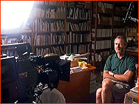 Interviewing Mike McPhaden in the Darwin Institute Library