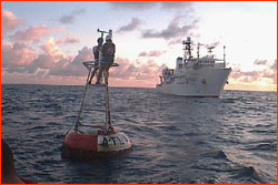 Recovering an ATLAS TAO buoy