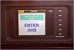 An on-board computer checks into the Automated Highway System.