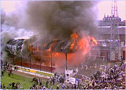 Soon after it began, the fire in the Bradford Football stadium transformed into an inferno that claimed the lives of 53 people.