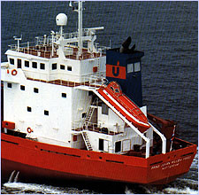 Verhoef boat on board ship