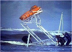 Early tests on this life boat demonstrated that it was self-righting and reliable.