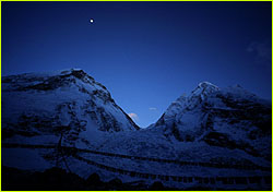 Moon over base camp