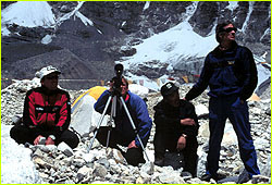 Base Camp team waiting for climbers