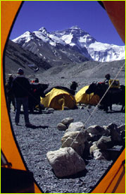 Everest from tent door