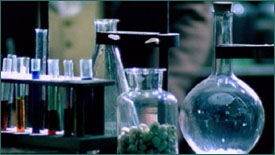 Color chemicals in lab