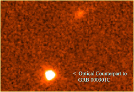 optical counterpart of gamma ray burst