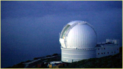 Optical observatory at La Palma