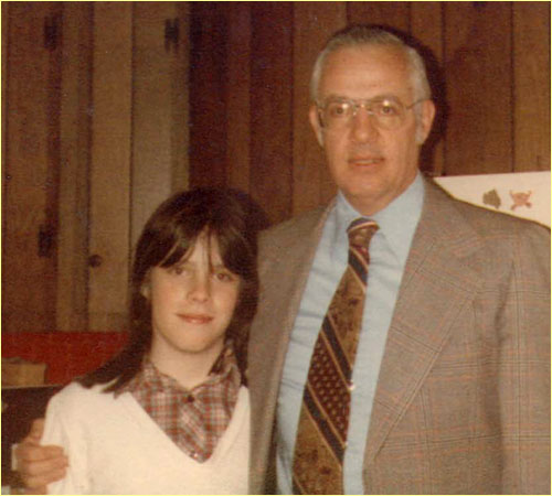 Judy at 13 years, with her father