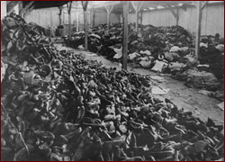 Auschwitz warehouse of shoes and clothes