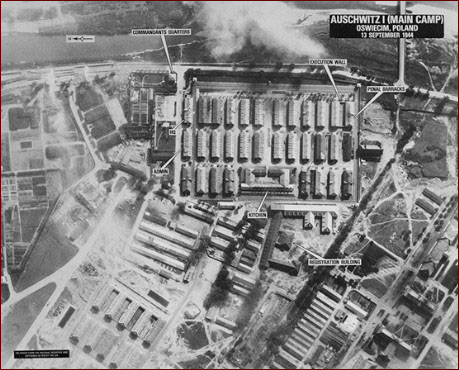 Photos View on An Aerial Reconnaissance Photo Of The Main Camp At Auschwitz Shot At