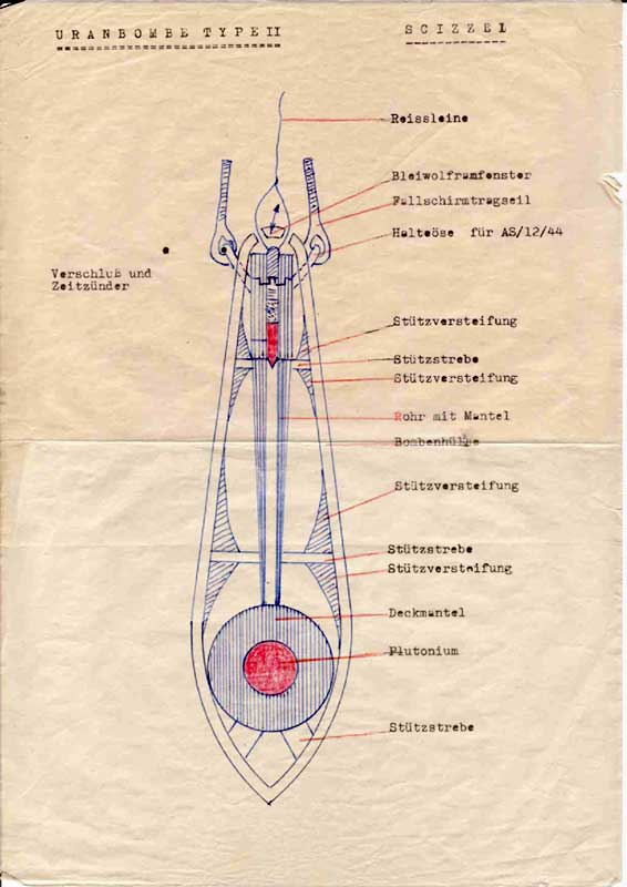 This is a schematic rather than a blueprint for an actual atomic bomb, and its unknown creator may have drawn it after the war. But it supports evidence ...