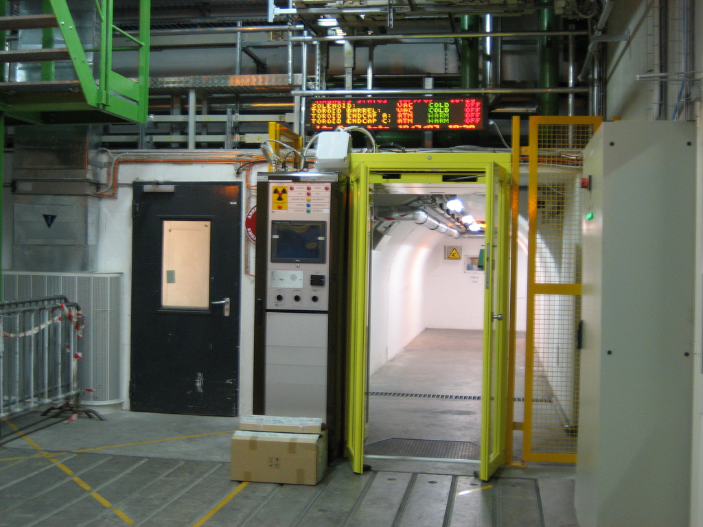 Elevator and security entrance to the ATLAS detector