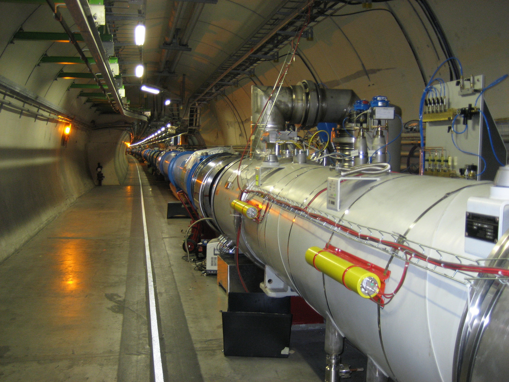 Beam pipe and tunnel at the LHC