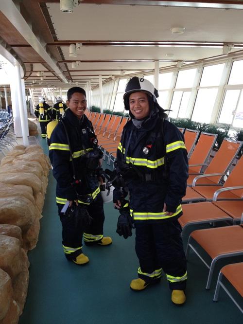 Crew fire drill