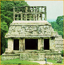 Palenque temple after