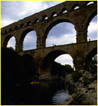 The Pont du Gard bridge
