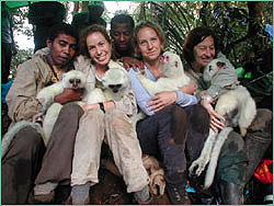Five folks with four silkies