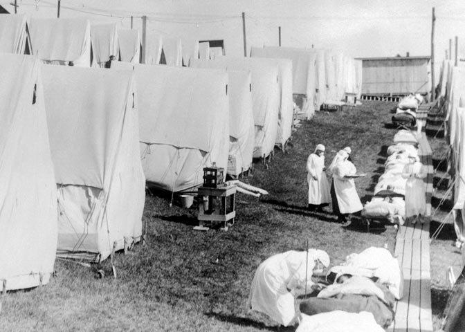 flu tents in 1918