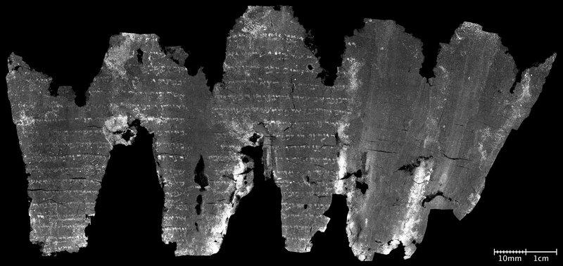 En-Gedi scroll unrolled after virtual unwrapping
