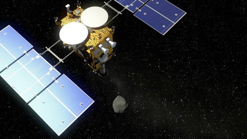 Hayabusa2 and asteroid Ryugu visualization