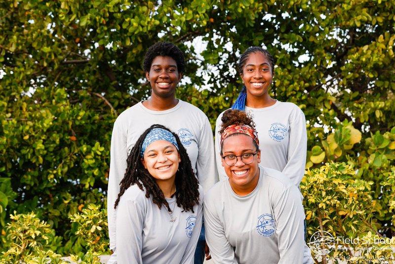 The founding members of Minorities in Shark Sciences standing together