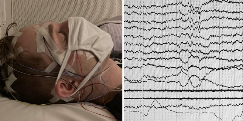 Mazurek, mid-test, and his EEG composite