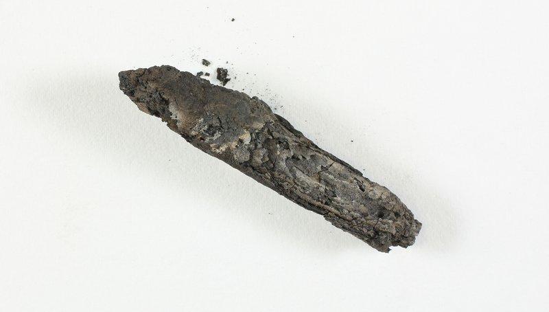 the charred En-Gedi scroll damaged by a synagogue fire