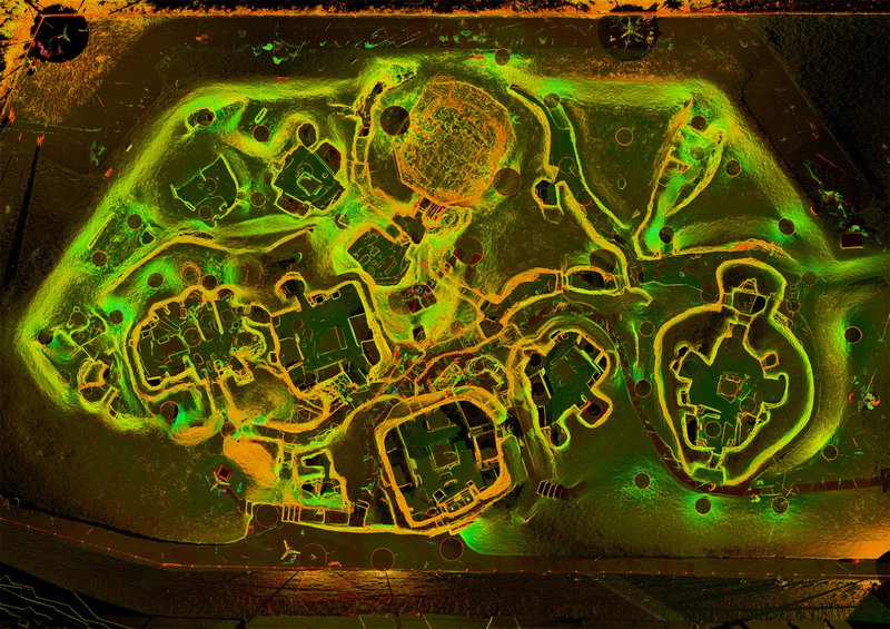 Aerial digital map of Skara Brae