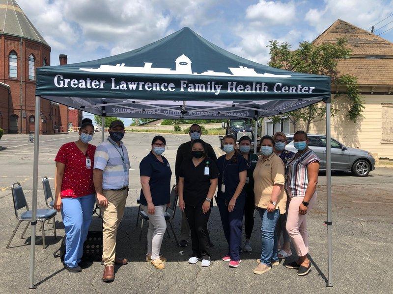 Coronavirus vaccination team at St. Patrick Parish in Lawrence, MA