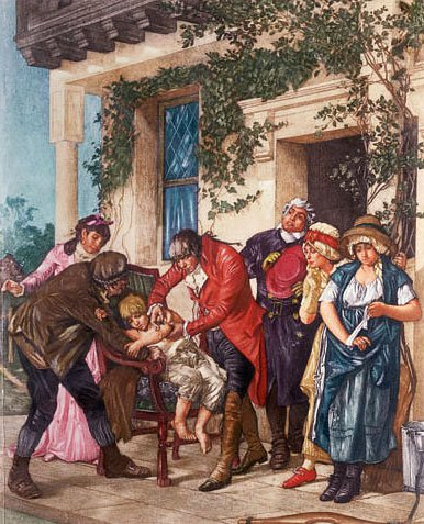 painting of Edward Jenner vaccine