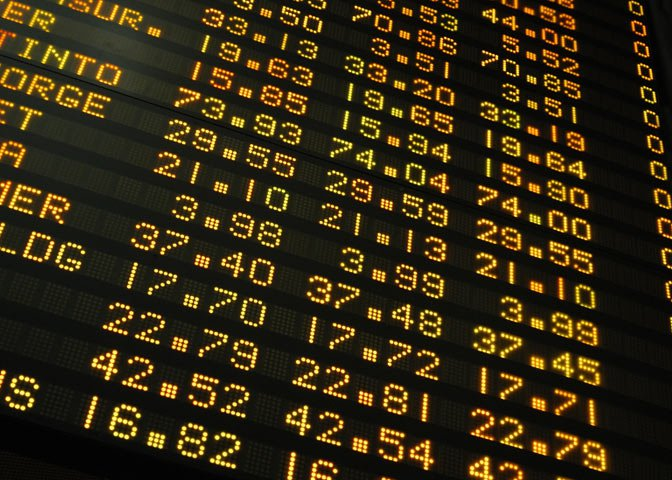 board with stocks