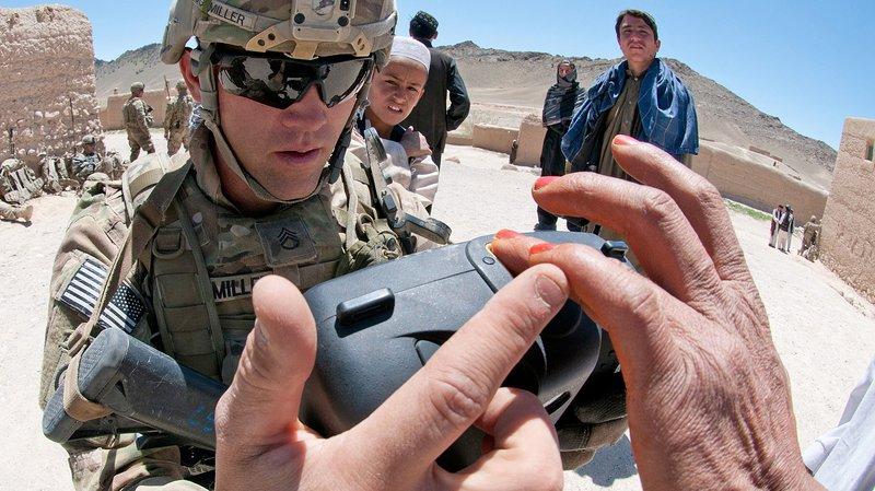 Afghan fingerprint scan