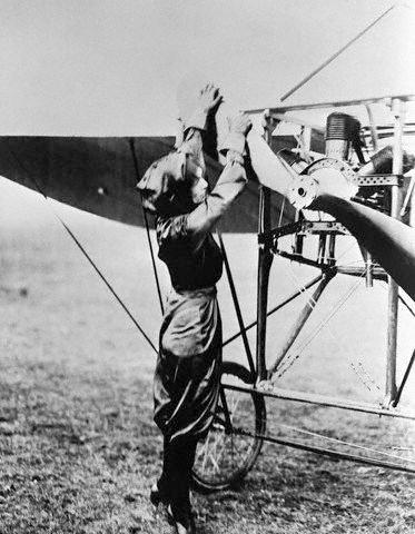 cranking the propeller