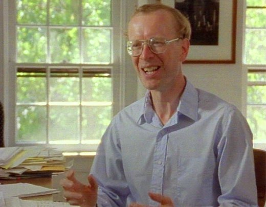 Andrew Wiles being interviewed