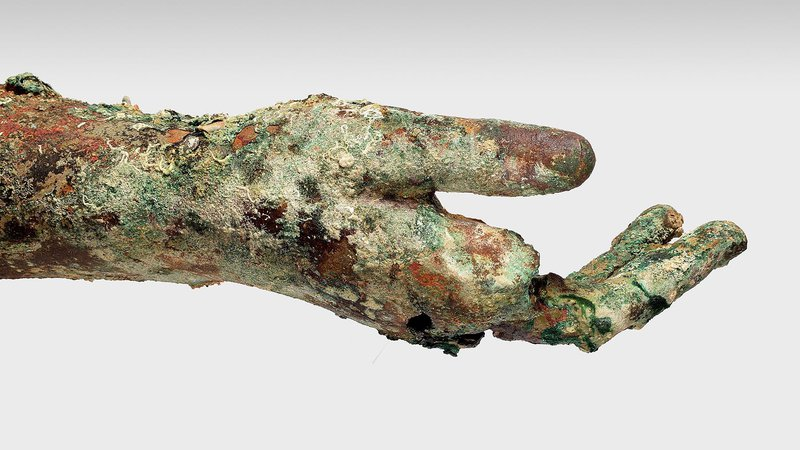 More Priceless Ancient Artifacts Found at Famed Antikythera Shipwreck-antikythera-bronze-arm-hand.jpg