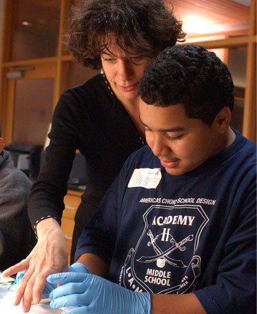Bassler mentoring a student