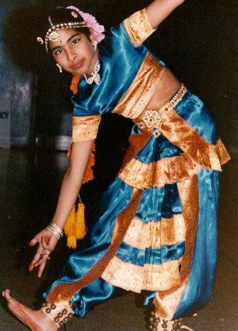 As a teen, she practiced Bharatnatyam
