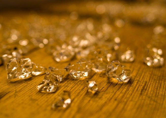 raw diamonds