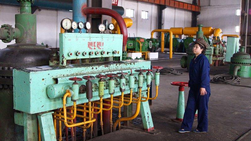 Fertilizer factory in North Korea